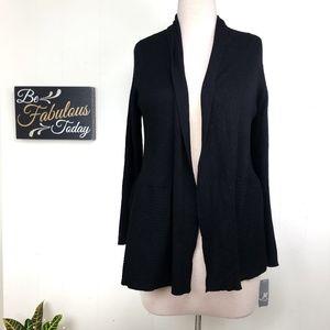 NWT JM Collection Black Cardigan Sweater 3X $59